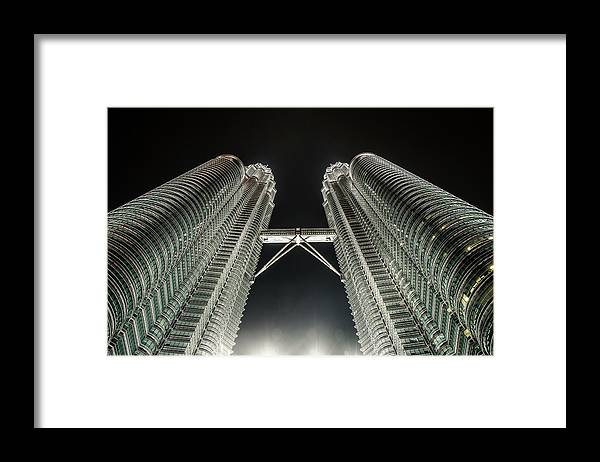Viewpoint Framed Print featuring the photograph Buildings Bridge by Twilightshow
