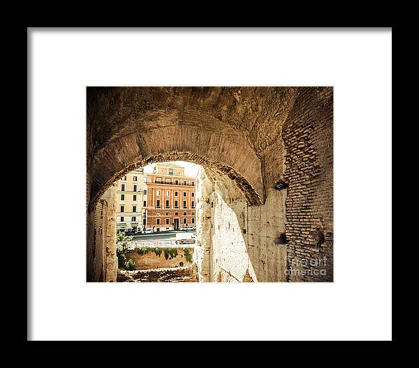 Rome Framed Print featuring the photograph Buildings Of Rome V by Christina Klausen