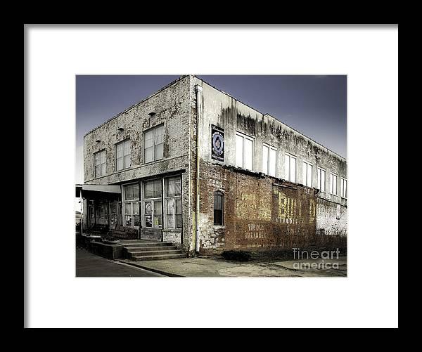 Advertisement Framed Print featuring the photograph Bull Durham Building 0001 by Robert Gardner