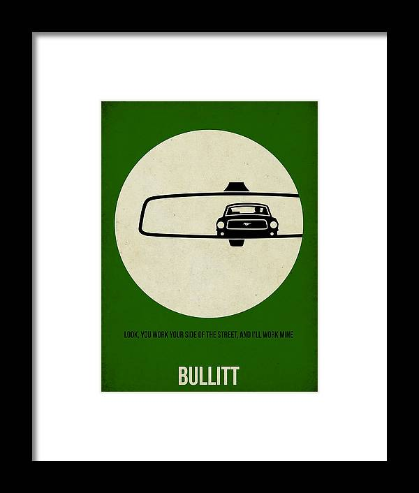Bullitt Framed Print featuring the painting Bullitt Poster by Naxart Studio