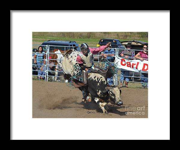 Rodeo Framed Print featuring the photograph Bullrider by Kris Wolf