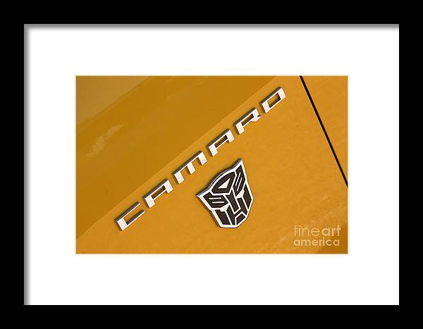 2011 Chevrolet Camaro Framed Print featuring the photograph Bumble Bee Logo-7938 by Gary Gingrich Galleries