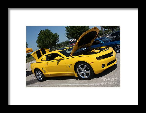 2011 Chevrolet Camaro Framed Print featuring the photograph Bumble Bee Side View 7904 by Gary Gingrich Galleries