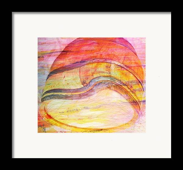 Bumped Wine Barrel Framed Print featuring the painting Bumped Wine Barrel by PainterArtist FIN