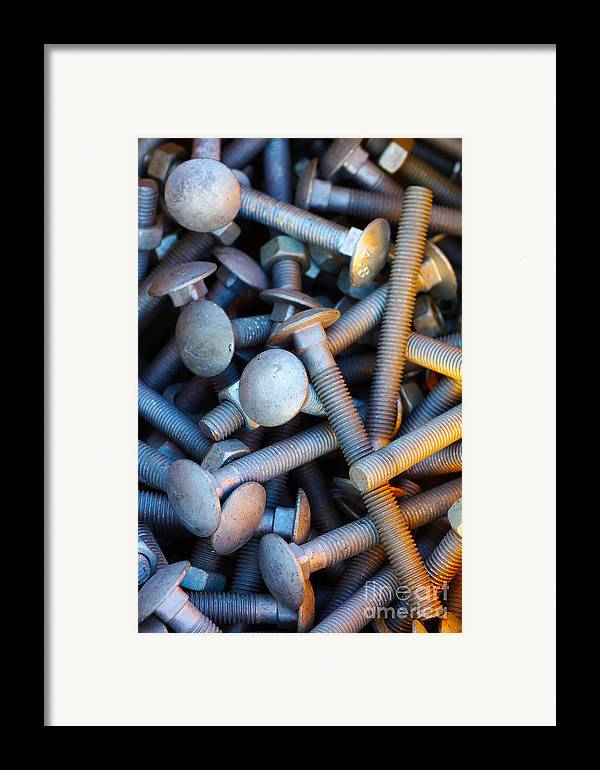 Aluminium Framed Print featuring the photograph Bunch Of Screws by Carlos Caetano