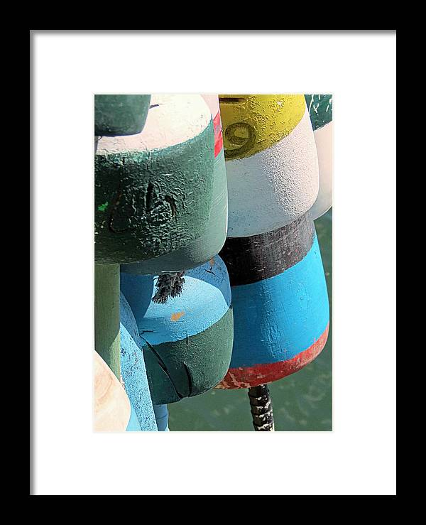 Buoys Framed Print featuring the photograph Buoys Tied Up by Janice Drew