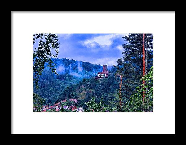 Castle Framed Print featuring the photograph Burgbadliebenzell by Martin Michael Pflaum