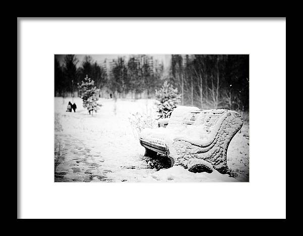 Pew Framed Print featuring the photograph Buried In Snow by Evgeny Govorov