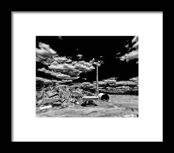 Burlington Framed Print featuring the photograph Burlington Klopman Remains by Alan Raasch