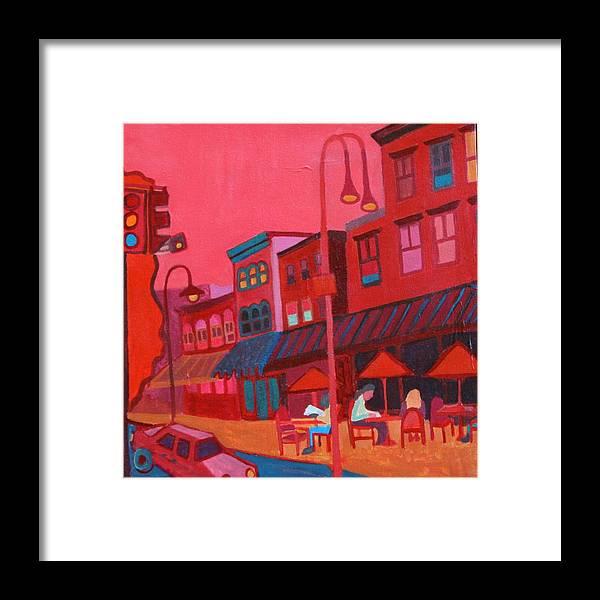 Vermont Framed Print featuring the painting Burlington VT cafe by Debra Bretton Robinson