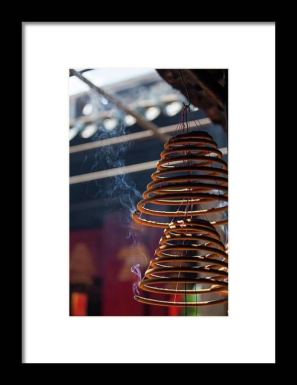 Chinese Culture Framed Print featuring the photograph Burn Incense And Pray by Greenlin