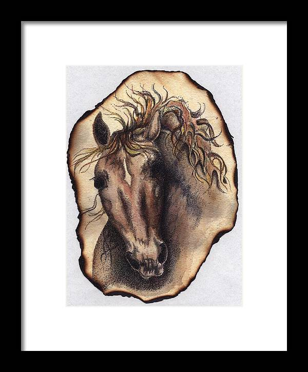 Horses Framed Print featuring the painting Burned Art by Jodi Bauter