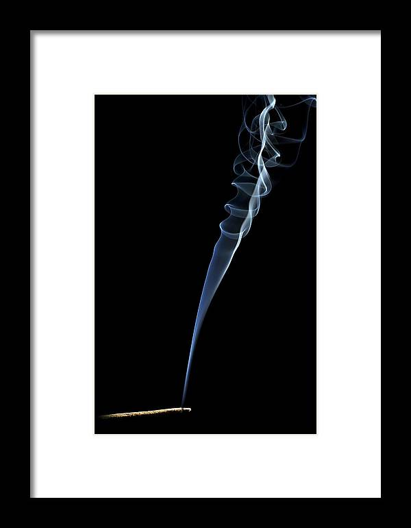 Smoke Framed Print featuring the photograph Burning Incesne by Maxim Sivyi