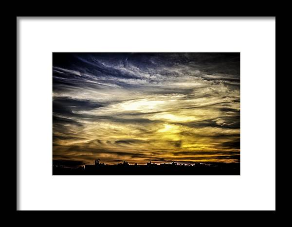 Sunset Framed Print featuring the photograph Burning Skies by Edward Khutoretskiy