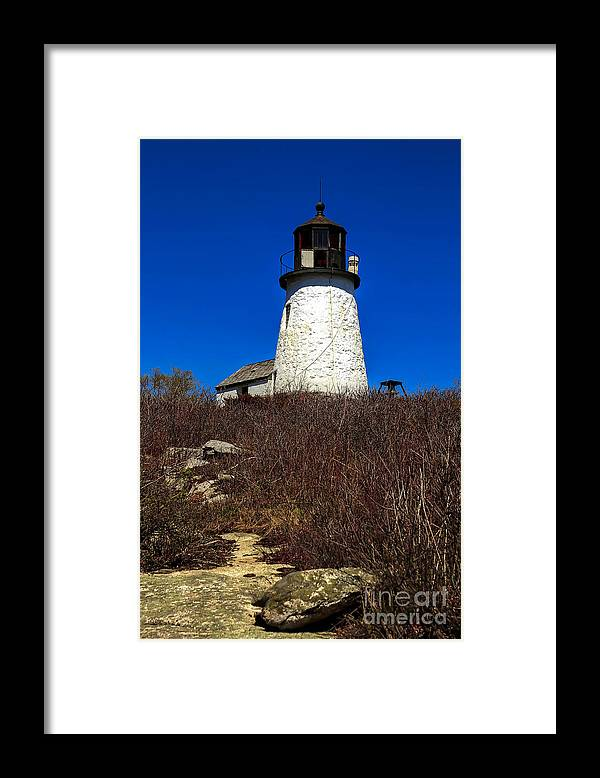 Lighthouse Framed Print featuring the photograph Burnt Island Lighthouse by Brenda Giasson