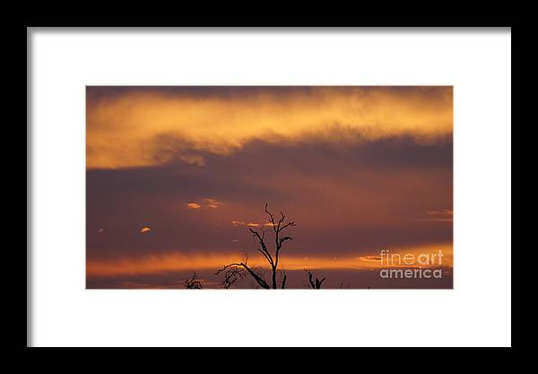 Sunset Framed Print featuring the photograph Burnt Orange Sunset by Jeff Waugh