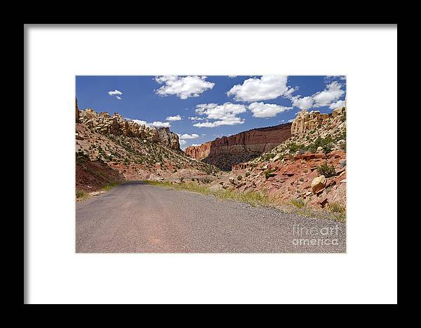 Utah Framed Print featuring the photograph Burr Trail Road Through Long Canyon by Rick Pisio