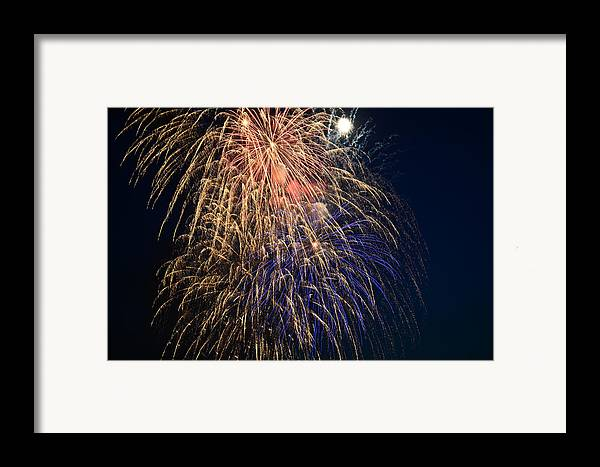Fireworks Framed Print featuring the photograph Bursting In Air by Ronda Broatch
