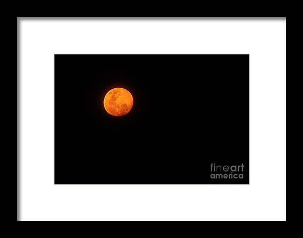 Photography Framed Print featuring the photograph Bushfire Moon 2 by Kaye Menner