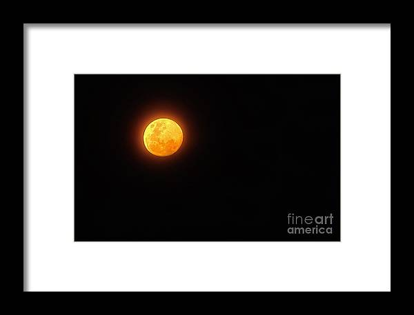 Photography Framed Print featuring the photograph Bushfire Moon by Kaye Menner