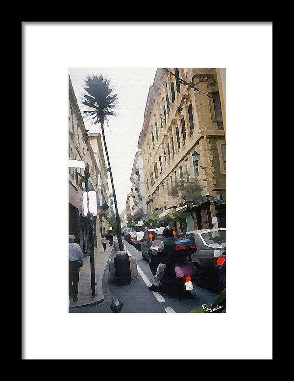 Art Framed Print featuring the photograph Busi Street by Piero Lucia