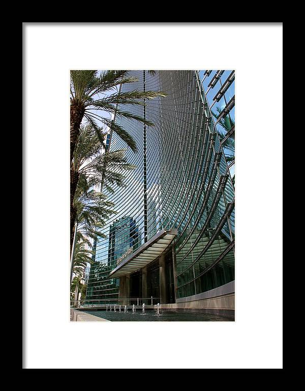Business City Skyscraper Building Architecture Framed Print featuring the photograph Business by AR Annahita
