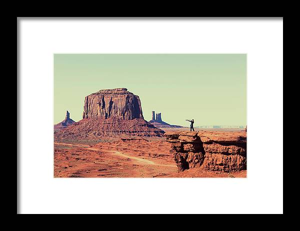Corporate Business Framed Print featuring the photograph Business Vision by Richvintage