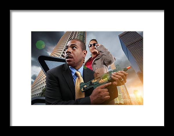 Business Framed Print featuring the photograph Business War Game by Konstantin Sutyagin