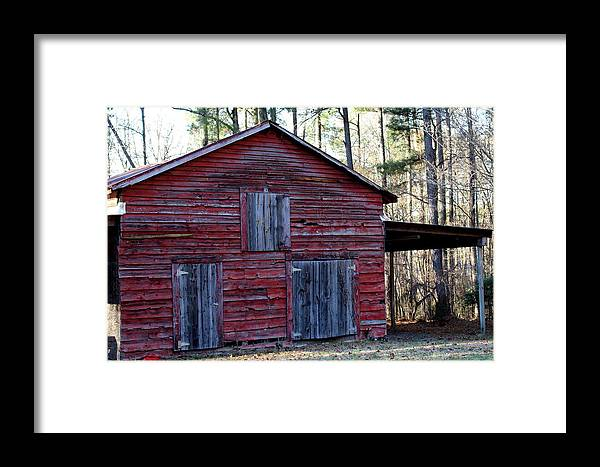 Durham Framed Print featuring the photograph Buster's Barn by Rand Wall