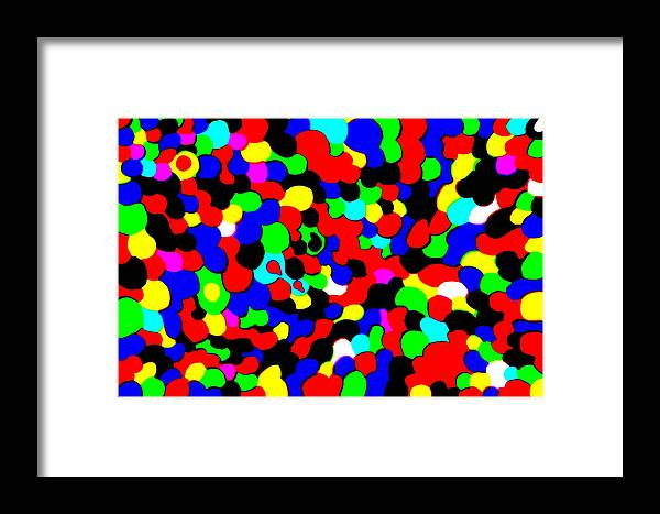 Colors Framed Print featuring the photograph Busy Heads by Christopher Rowlands