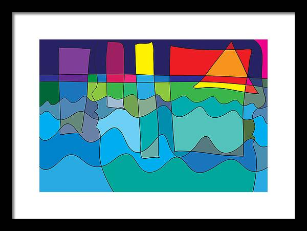 Abstract Art Paintings Framed Print featuring the digital art But Not For Me by Abstract Art by Daville