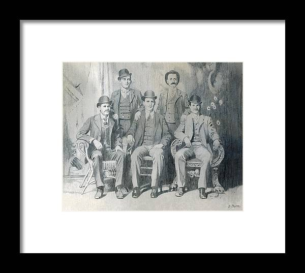 Pencil Drawing Framed Print featuring the drawing The Wild Bunch by Dean Pratali