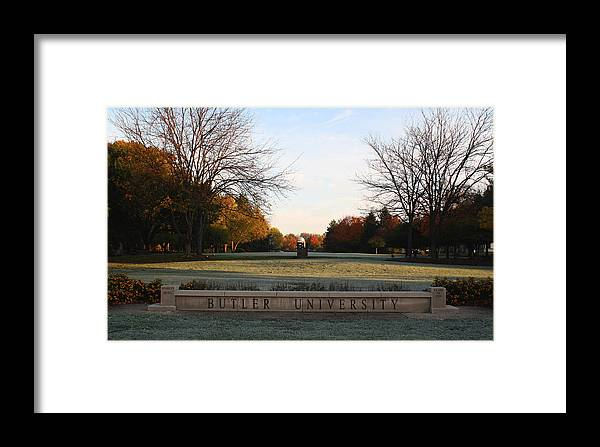 Butler University Framed Print featuring the photograph Butler University Mall by Dan McCafferty
