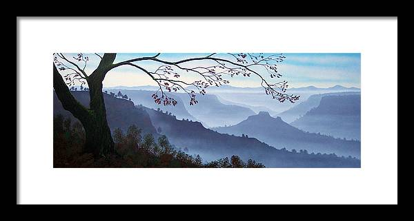 Mural Framed Print featuring the painting Butte Creek Canyon Mural by Frank Wilson