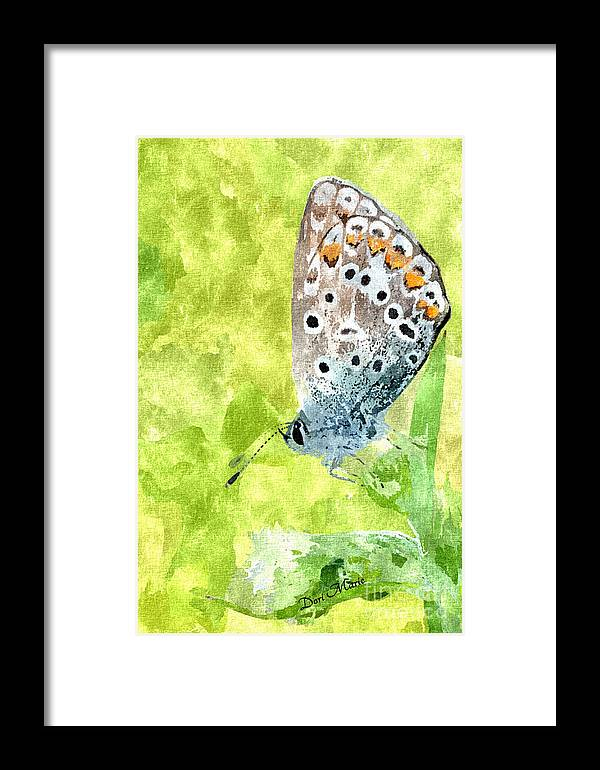 Butterfly Framed Print featuring the mixed media Butterfly Art Prints by Dori Marie Art By Design