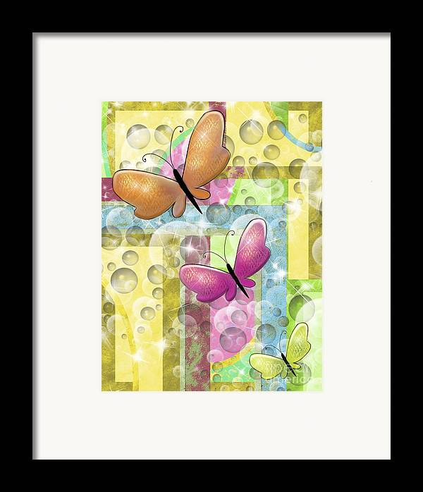 Butterfly Framed Print featuring the painting Butterfly Dreams by Karen Sheltrown