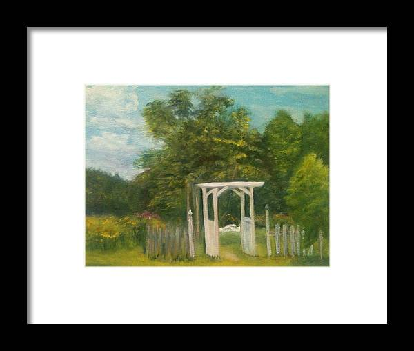 Sheila Mashaw Framed Print featuring the painting Butterfly Garden by Sheila Mashaw