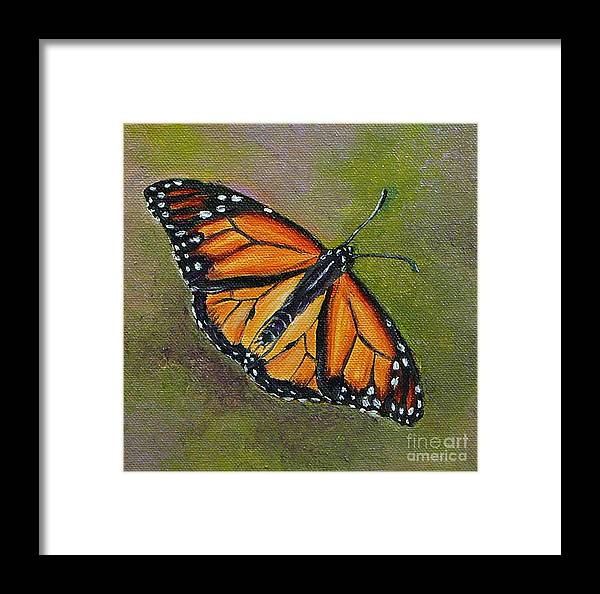 Butterfly Framed Print featuring the painting Butterfly by Gayle Utter