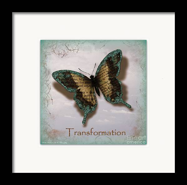 Butterfly Prints Framed Print featuring the photograph Butterfly Of Transformation by Bobbee Rickard