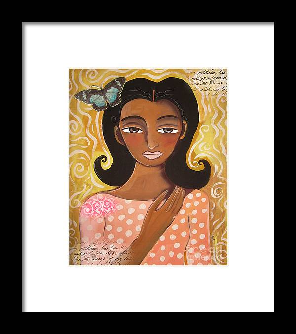 Female Framed Print featuring the digital art Butterfly Totem by Elaine Jackson