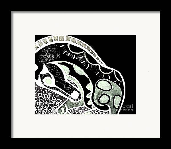 Horse Framed Print featuring the painting Bw Horse by Amy Sorrell