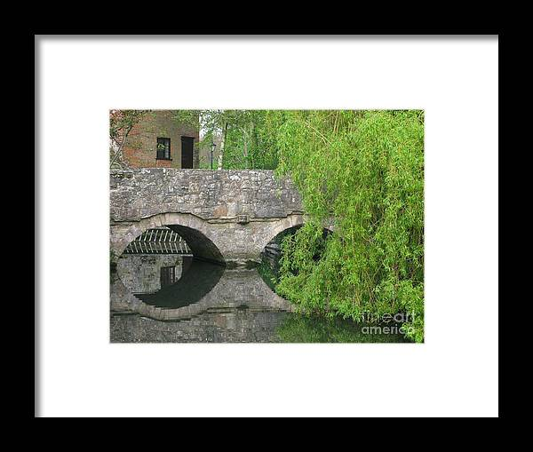 England Framed Print featuring the photograph By The Old Mill Stream by Ann Horn