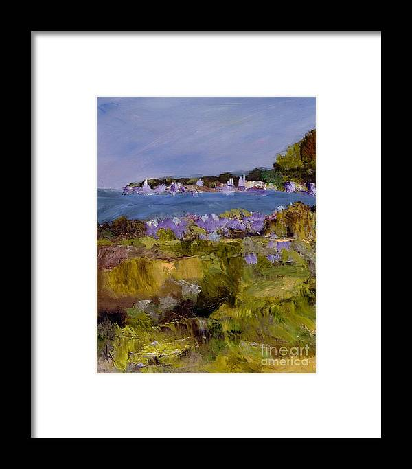 Seaside Framed Print featuring the painting By The Sea #3 by Kathleen Farmer