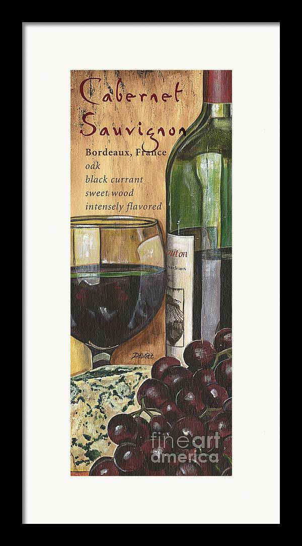 Cabernet Framed Print featuring the painting Cabernet Sauvignon by Debbie DeWitt