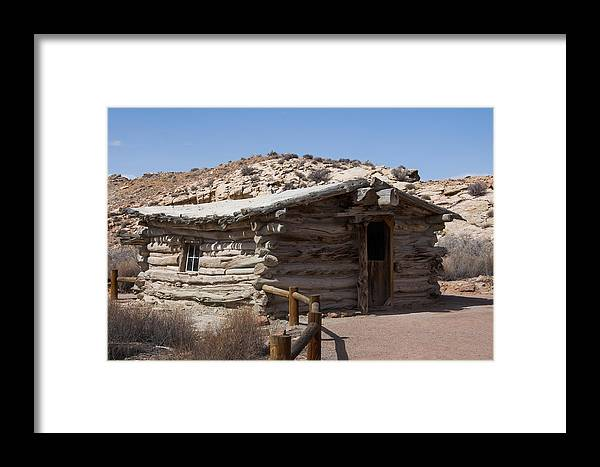 Photography Framed Print featuring the digital art Cabin At Wolf Ranch by Neal Hebert
