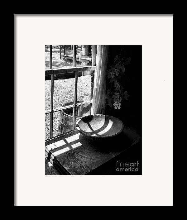 Log Cabin Framed Print featuring the photograph Cabin Crosses II by Julie Dant