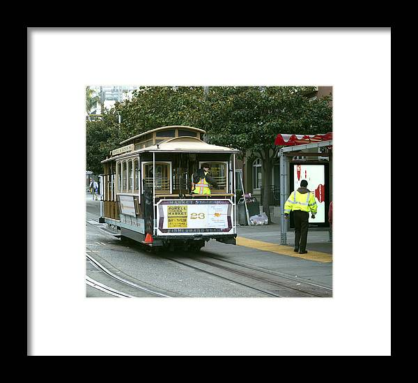 Photograph Framed Print featuring the photograph Cable Car At Fisherman's Wharf by Christopher Winkler