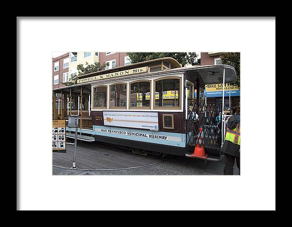 Photograph Framed Print featuring the photograph Cable Car Turn-around At Fisherman's Wharf by Christopher Winkler