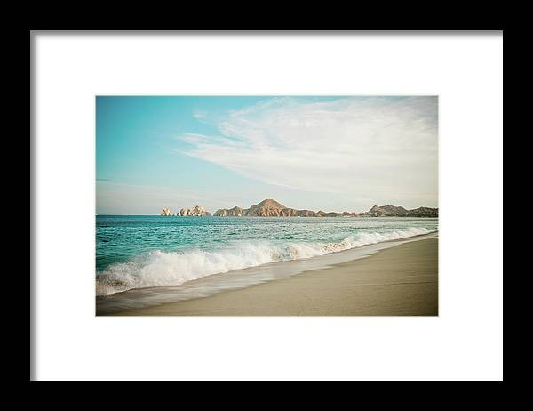 Water's Edge Framed Print featuring the photograph Cabos San Lucas by Christopher Kimmel