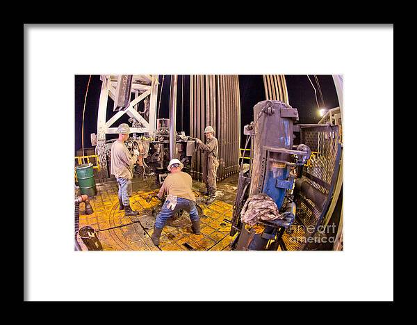Oil Rig Framed Print featuring the photograph Cac003-17 by Cooper Ross